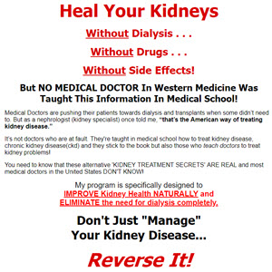 Natural Kidney Damage Cure and Treatment
